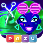 Girls Hair Salon Glow – Hairstyle games for kids 1.06 APK MOD Unlimited Money Download