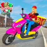 Moto Bike Pizza Delivery Girl Food Game MOD Unlimited Money Download