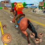 Mounted Horse Riding Pizza Guy Food Delivery Game 1.0.2 MOD Unlimited Money Download