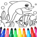 Dolphin and fish coloring book 16.3.2 MOD Unlimited Money Download